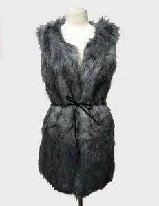 Long Pocket Fur Vest $45/each