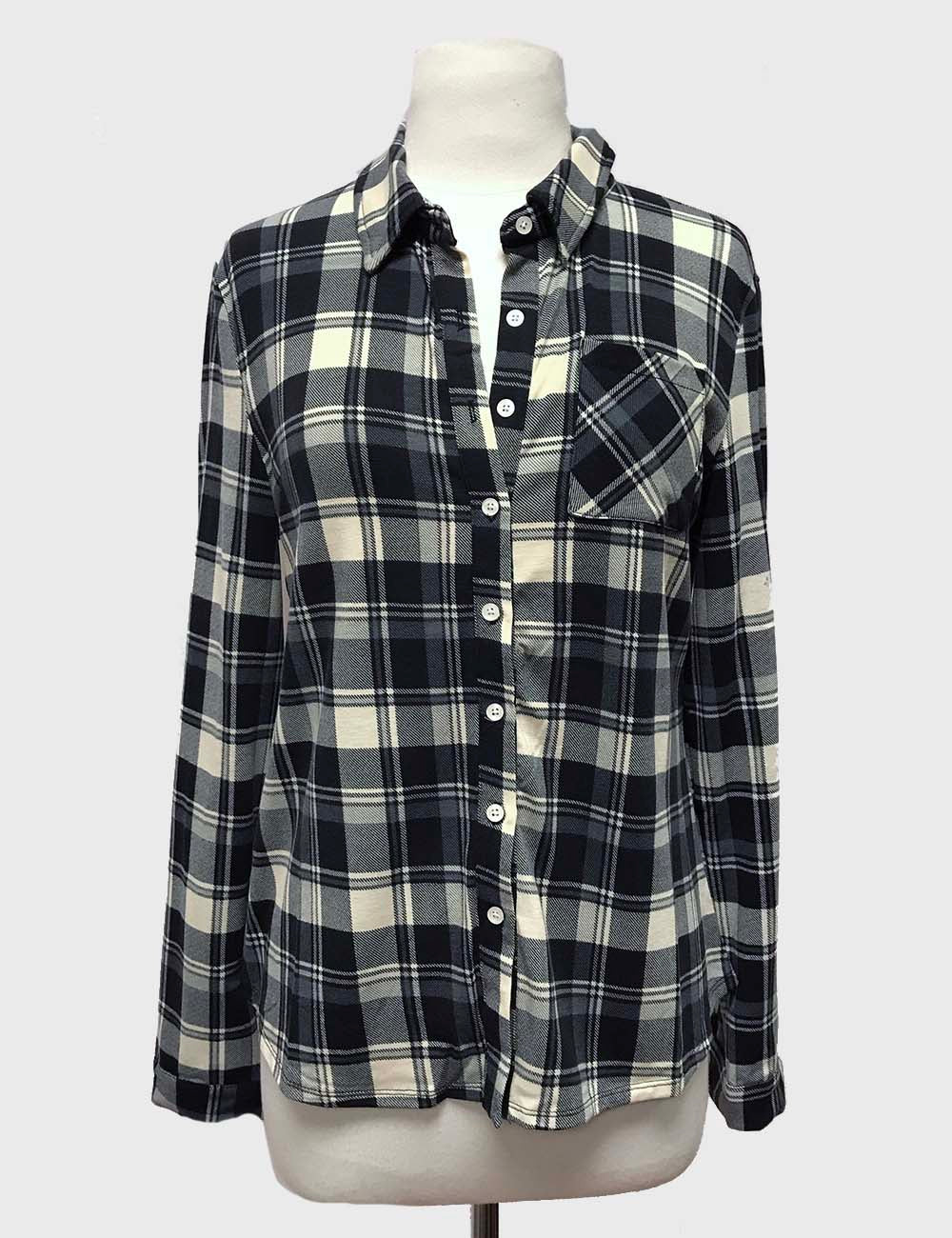 Black And White Plaid Shirt $15/each