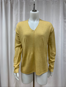 Front Seamed Knit Sweater Top