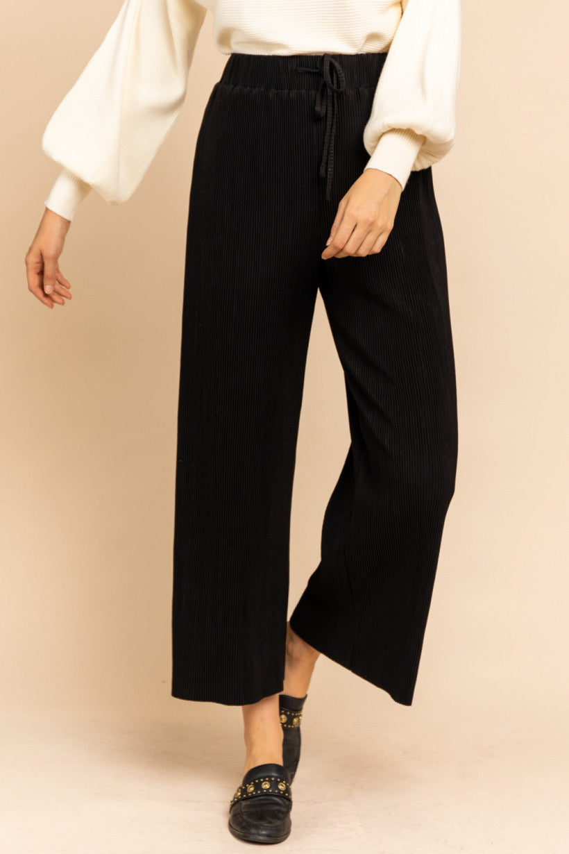 Wide Leg Pleated Drawstring Pants $45/each