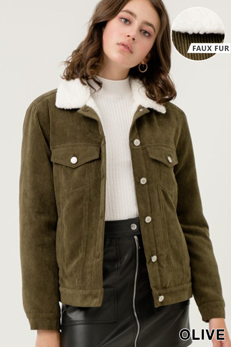 Sherpa Corduroy Jacket $32/each