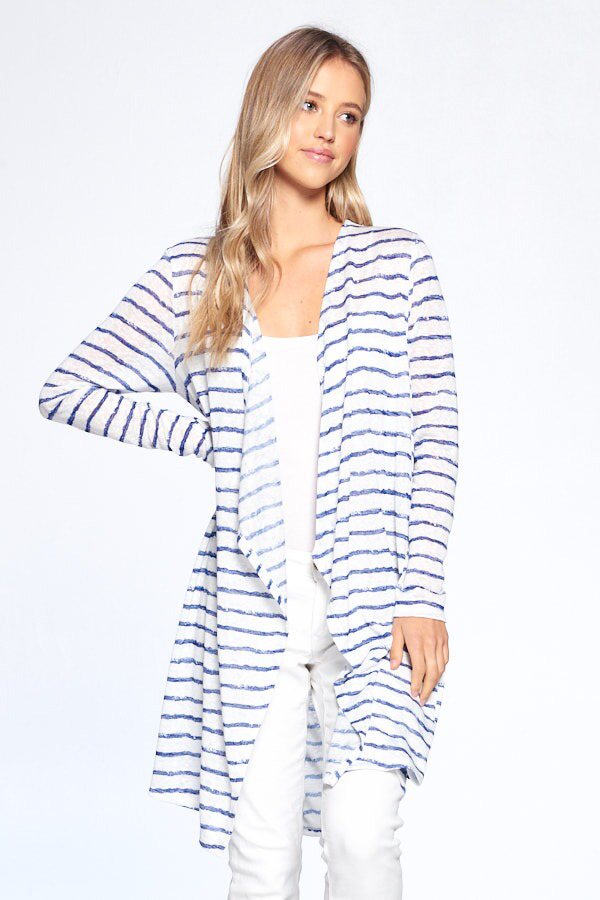 BUY 1 GET 1 15%  : Stripe Rayon Cardigan