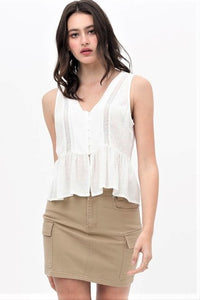 Rayon Lace Trim Top $28/each