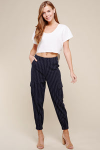 Cotton Stripe Pants w/ Pockets $39/each