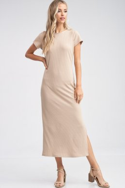 Jane Ribbed Maxi Dress