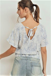 Toile Print Smocked Him Top $19/each
