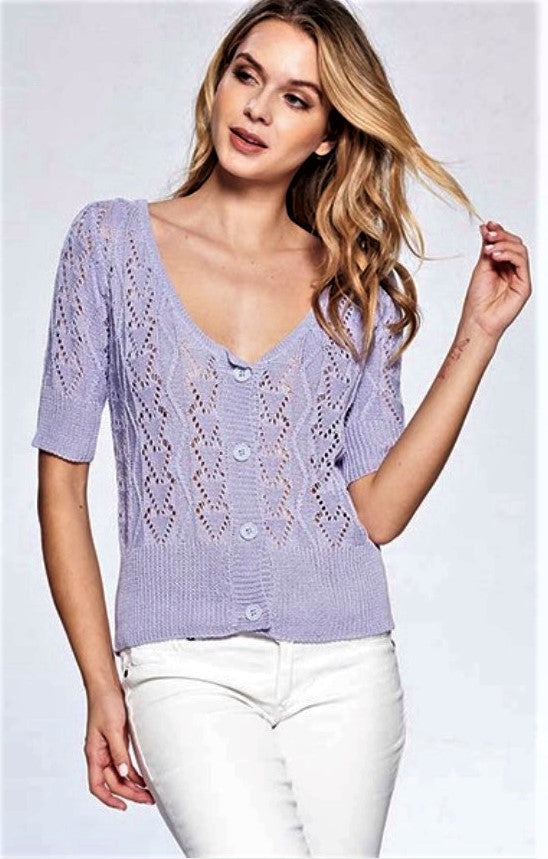 Penelope Knitted Half Sleeve Cardigan $19/each