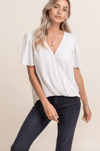 Draped Front S/S Top