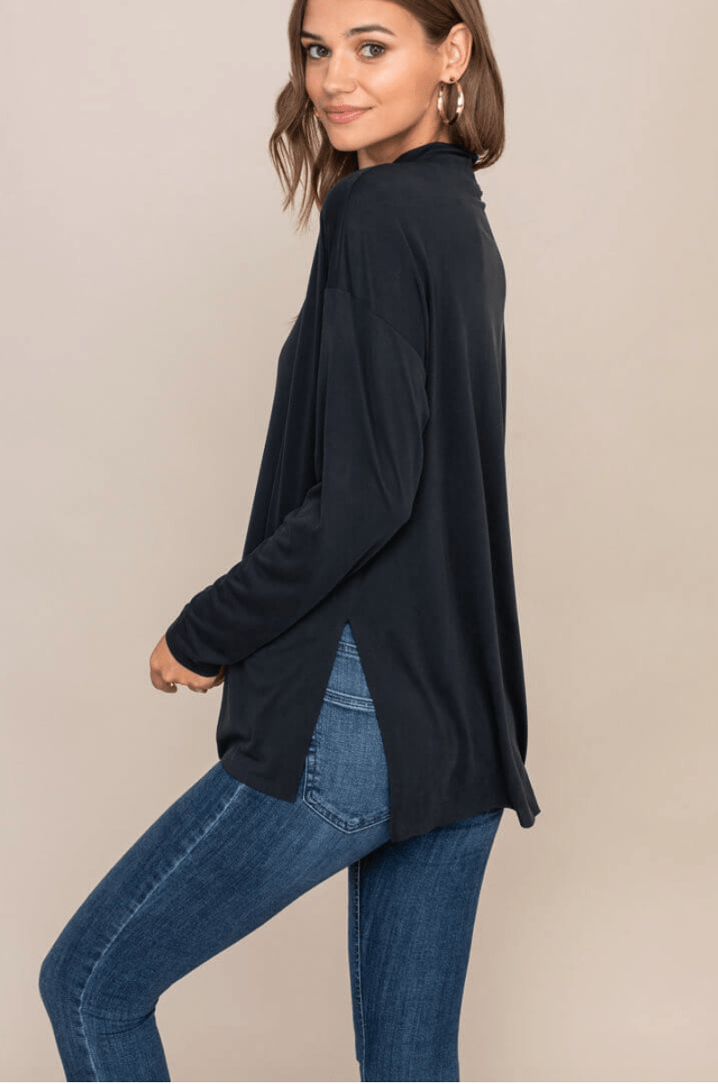 Mock Neck L/S Top