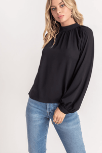 High Neck L/S Blouse