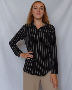 Striped Collared Blouse