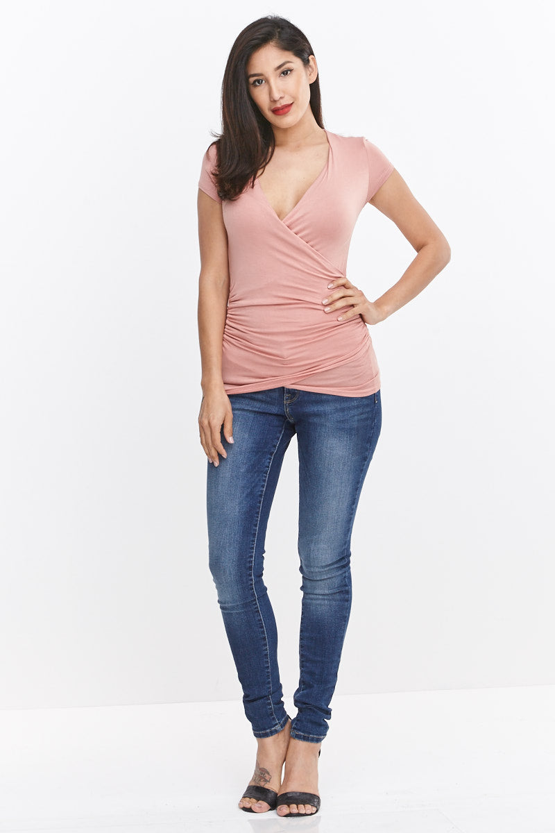Crossover Ruch Knit Top