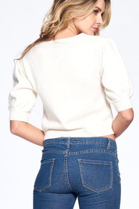 Valerie Puff Sleeve Sweater $29/each