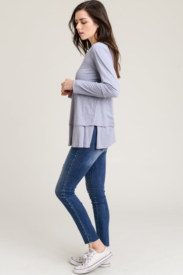 L/S Double Layered Top