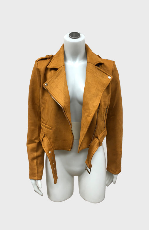 Suede Crop Moto Jacket $30/each