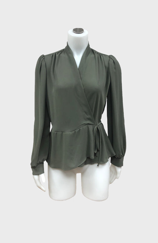 L/S Wrap Blouse
