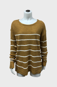 Round Neck Stripe Sweater