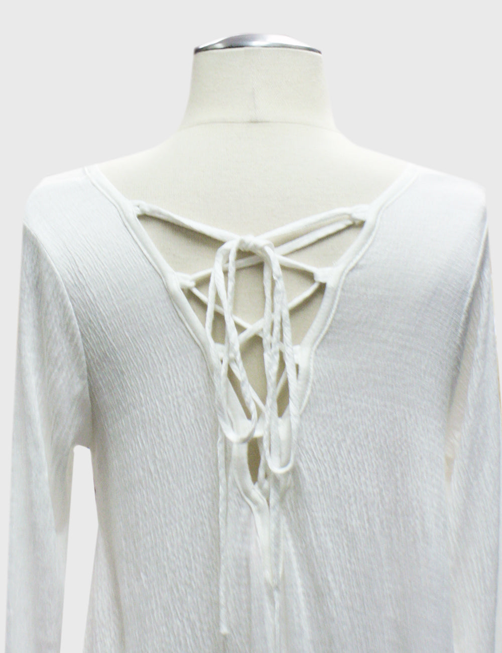 Lace Up Back Detail Top
