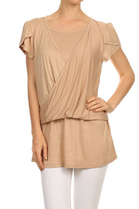 Double Layer Tulip Sleeve Top $7/each