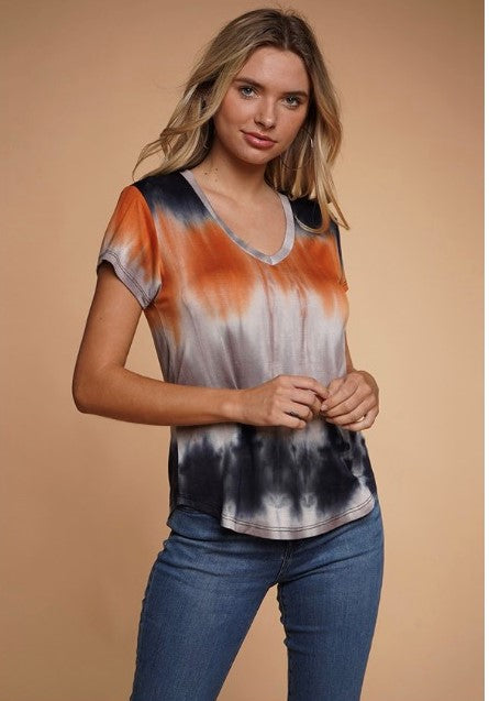 V-Neck Tie Dye Top $11/each