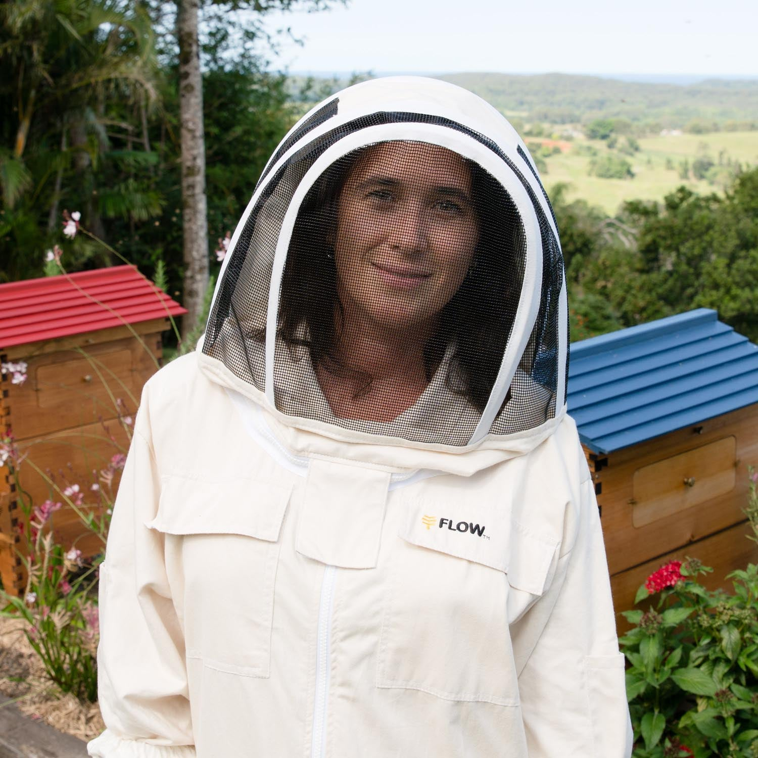 Bees /& Co U75 Natural Cotton Beekeeper Suit with Square Veil