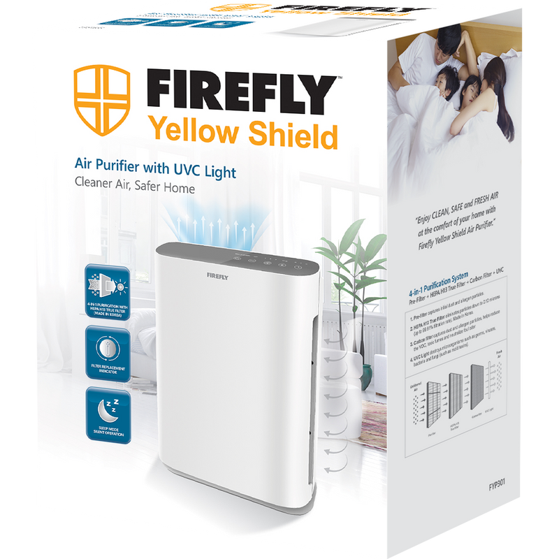 Firefly Yellow Shield Air Purifier with UVC Light (Medium)