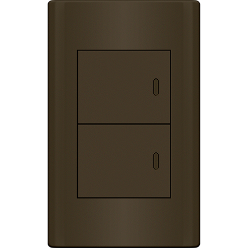 Royu Plano 2 Gang Switch Set Dark Gray