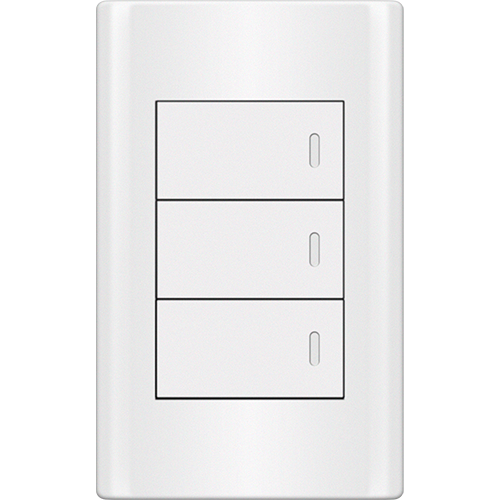 Royu Plano 3 Gang Switch Set White
