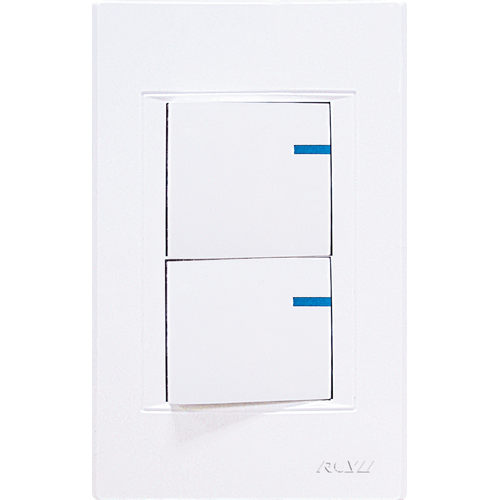ROYU Modern Series 2-Gang Switch White