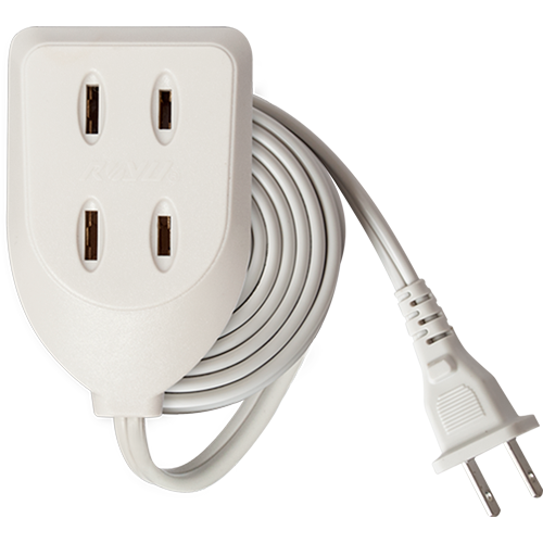 Royu 3 Gang Flat Pin Outlet Extension Cord