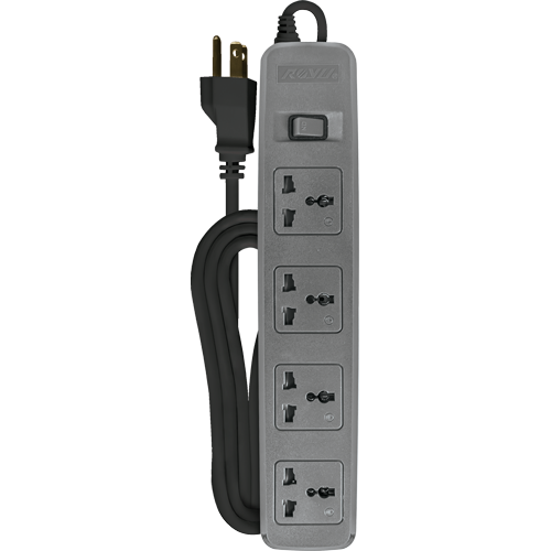 Royu 4 Gang Power Extension Cord with One Master Switch