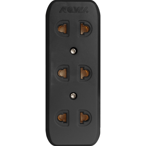 Royu 3 Gang Surface Type Universal Outlet