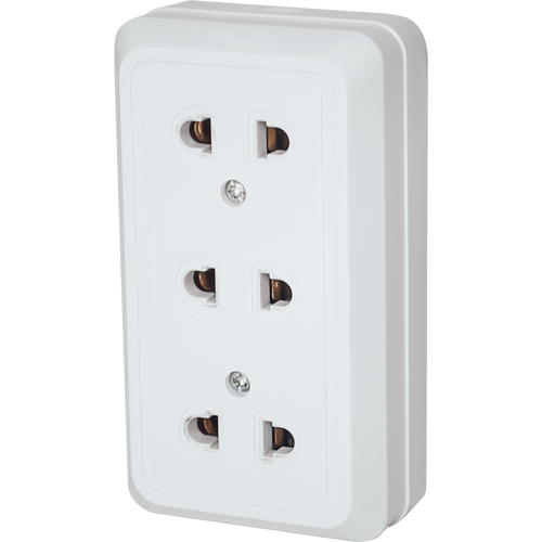Royu 3 Gang Surface Type Outlet