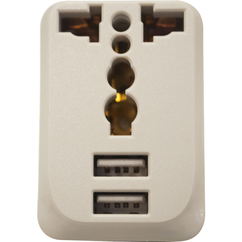 Royu Universal Adapter with 2 USB Ports