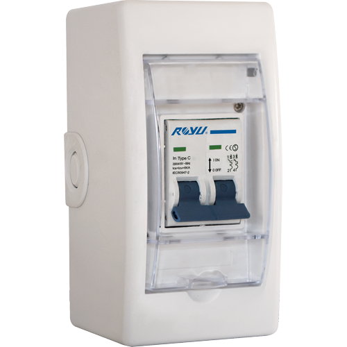 Royu Mini Safety Breaker 32A with Cover and Outlet