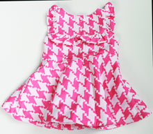 Load image into Gallery viewer, Janie and Jack Pink Houndstooth Dress- Baby Girl (6M-9M)- New with Tags