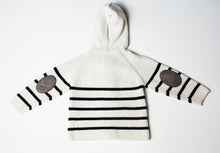 Load image into Gallery viewer, Exclusively You Striped Sweater with Hood- Baby Boy (12M-18M)