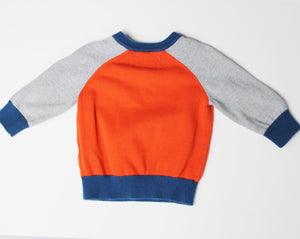 Children's Place Raglan Button Sweater- Baby Boy (12M-18M)