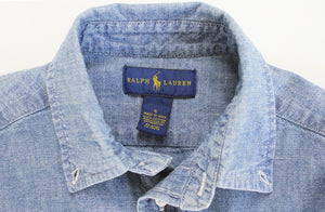 Ralph Lauren Chambray Collared Shirt- Boy Size (6)