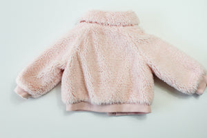 Janie and Jack Faux Mink Coat- Baby Girl (6M-12M)