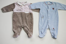Load image into Gallery viewer, Kissy Kissy Velour PJ's- Baby Boy (0M-3M)