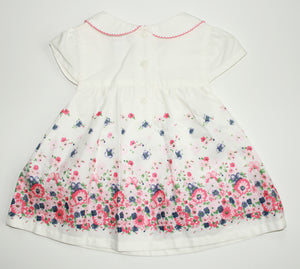 Janie and Jack Floral Print Dress- Baby Girl (12M-18M)