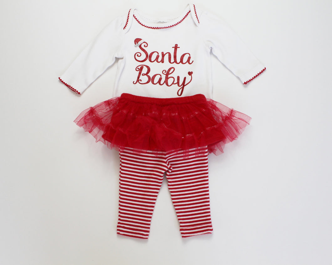 Santa Baby 2 Piece Set- Baby Girl (6M)
