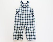 Load image into Gallery viewer, Janie and Jack Plaid Overalls- Baby Boy (3M-6M)
