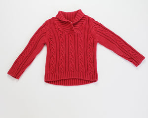 Pearls and Popcorn Sweater- Baby Boy (24M)