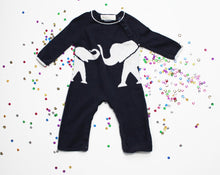 Load image into Gallery viewer, Lucky Jade Sweater Knit Onesie- Baby Boy (3M-6M)