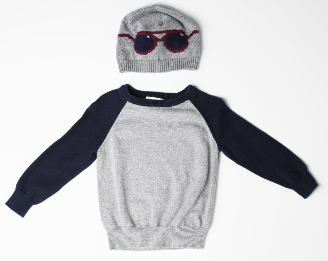 Crew Cuts Sweater and Gap Hat -Toddler Boy (2T)