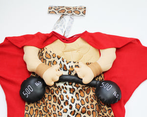 Mini Muscle Man Halloween Costume- Baby Boy (6M-9M)