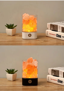 2019 HIMALAYAN CRYSTAL SALT LAMP COLOR DIMMER LED AIR PURIFIER NIGHT LIGHT