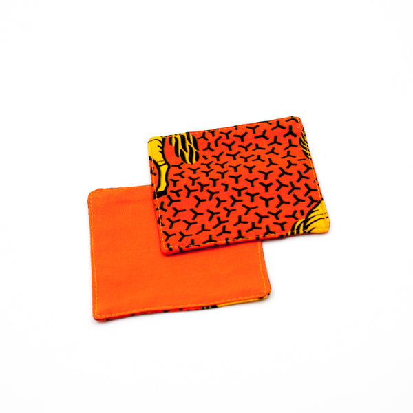 Coaster (set of 2) - Hose Hose Yellow & Orange -
